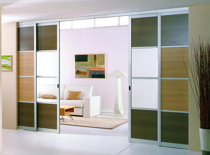 La porte coulissante v ritable l ment de d coration tendances dressing - Porte cloison coulissante ...