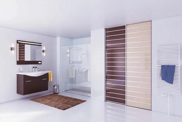 porte de placard pour salle de bain
