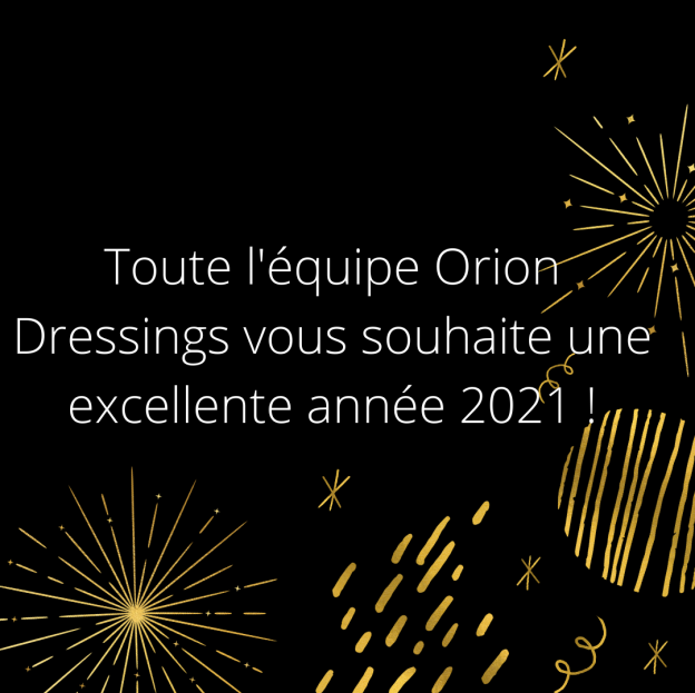 Bonne année 2021 avec Orion Dressings